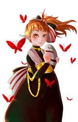 Red Butterflies by tweedeldee