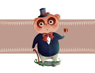 Mr. Raccoon by tweedeldee