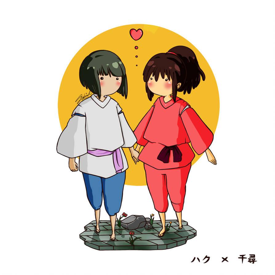 Haku X Chihiro by tweedeldee
