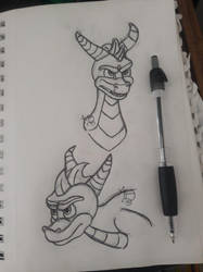 Spyro the Dragon-Traditional by AshFisher
