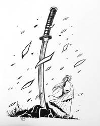Sword - Inktober 2017 Day #6 by TheRamf