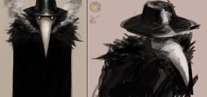 Plague Doctor sketches by Snook-8