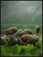 Red Piranhas by daaram