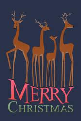 Christmas Deer by Vegeta897