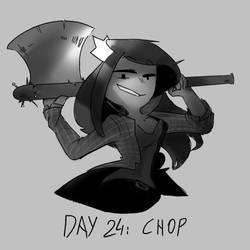 Inktober Day 24: Chop by Lallelol