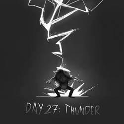 Inktober Day 27: Thunder by Lallelol