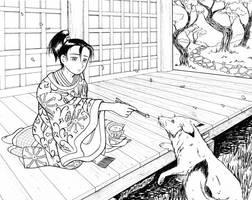 Feeding the fox by mangakasagebrush