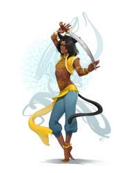 Sword dancer by OlenaMinko