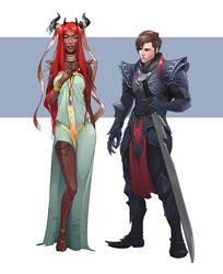 Fai-rene and Alikai by OlenaMinko