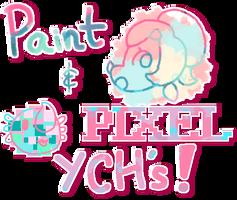Paint 'n' Pixel YCHs - Open! by cat-noises