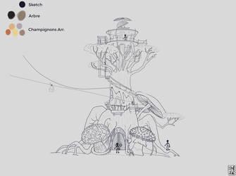 Sketch Tree Fantasy by Studio-daVinci-Dijon