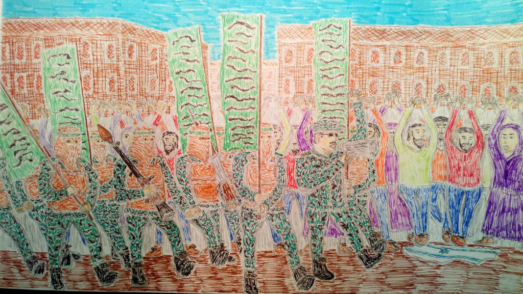 Hamas parade by SergeantQumbula