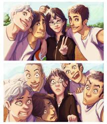 Karasuno selfie by Masthya