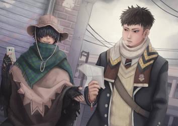 Ryuji and Bon by Tesnuzzik