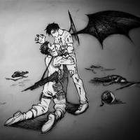 'Cruel' Vampire by lizzicusart