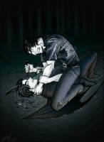 'Muddy' Vampire by lizzicusart