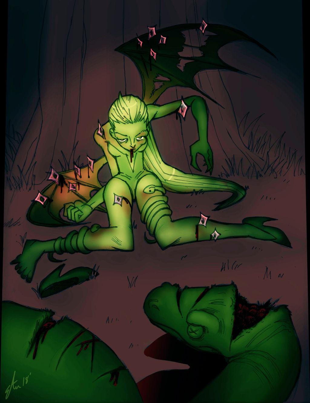 'Breakable' Vampire by lizzicusart