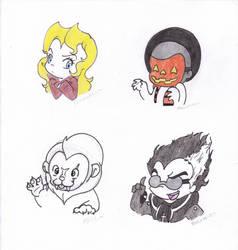 Chibi villains by Lil-Bea