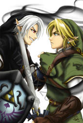 Dark Link vs Link by TixieLix
