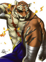 Tiger Sagat by TixieLix