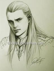 Legolas Sketch by TixieLix