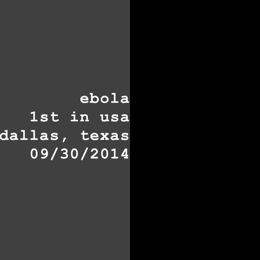 1st ebola usa by spicone