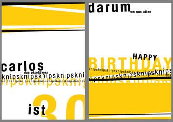 carlos birthday card by spicone