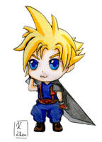 FF7 - Cloud Strife Chibi by Keylhen