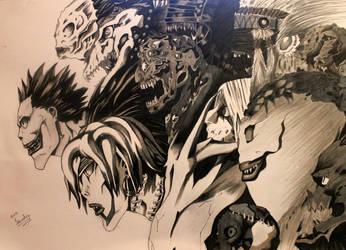 Shinigami's (Death note fan art) by Salamandara