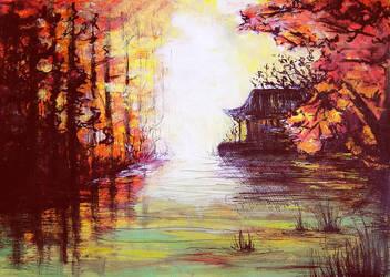 At the lake by JenniElfi