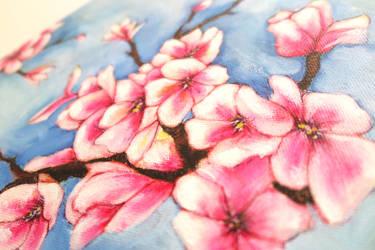 Blue sakura closeup by JenniElfi