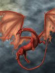 Red Dragon in the cloud by Tamara971