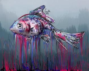 Melting Fish by KraftoFox