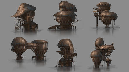 Hut designs by Jarkuzy