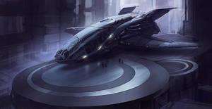 Scifi sketch by Jarkuzy