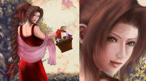 Aerith in red by akonyah