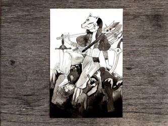 Inktober2017: Sword by Akiocha