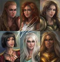Female Portraits by artastrophe
