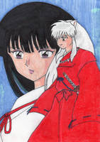 Inuyasha and Kikyou by Amara-Anon