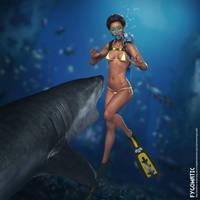 Kono's First Shark Encounter by TigerrrSharrrk