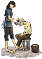 Asha and Theon by Thrumugnyr