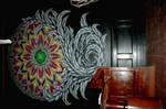 stained glass mandala murals by vankuilenburg
