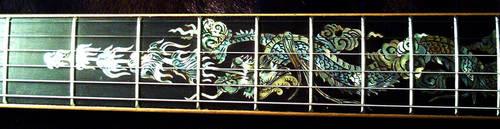 fretboard inlay close up by vankuilenburg