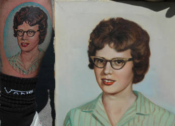 the painting and the tattoo by vankuilenburg