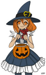 Halloween-Chan Colored by SteewpidZombie