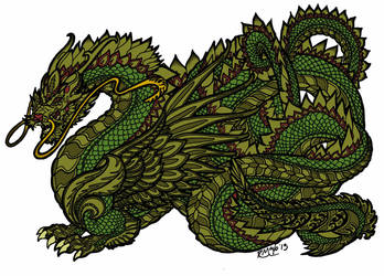 Dragon Colored by SteewpidZombie