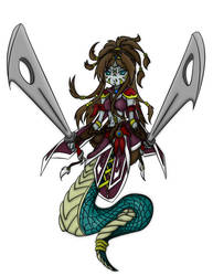 Colored Naga by SteewpidZombie