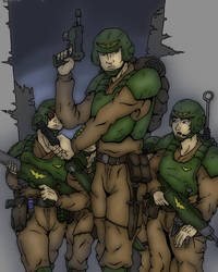 Imperial Marines Colored by SteewpidZombie
