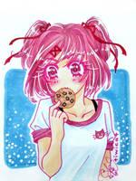 # Natsuki. best girl. by TiwiCat