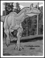 Cryolophosaurus by zakafreakarama